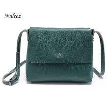 Nuleez Women Messenger Bag Ladies Genuine Leather Handbags Real Cowhide Organizer Crossbody Shoulder Bag Female 4102