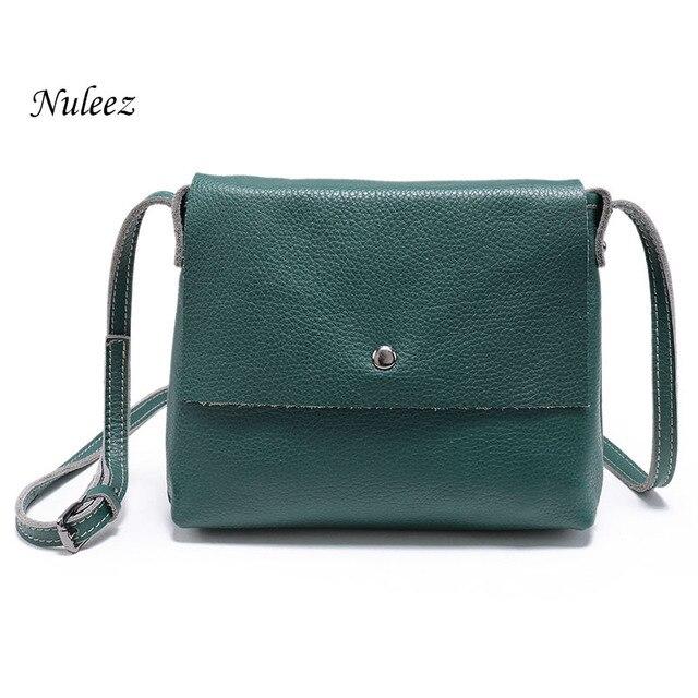 0f753202485b Nuleez Women Messenger Bag Ladies Genuine Leather Handbags Real Cowhide  Organizer Crossbody Shoulder Bag Female 4102