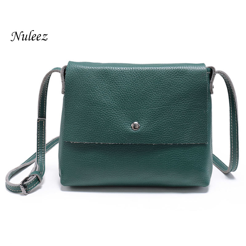 Women messenger bag ladies Genuine leather handbags Real Cowhide Organizer Crossbody shoulder