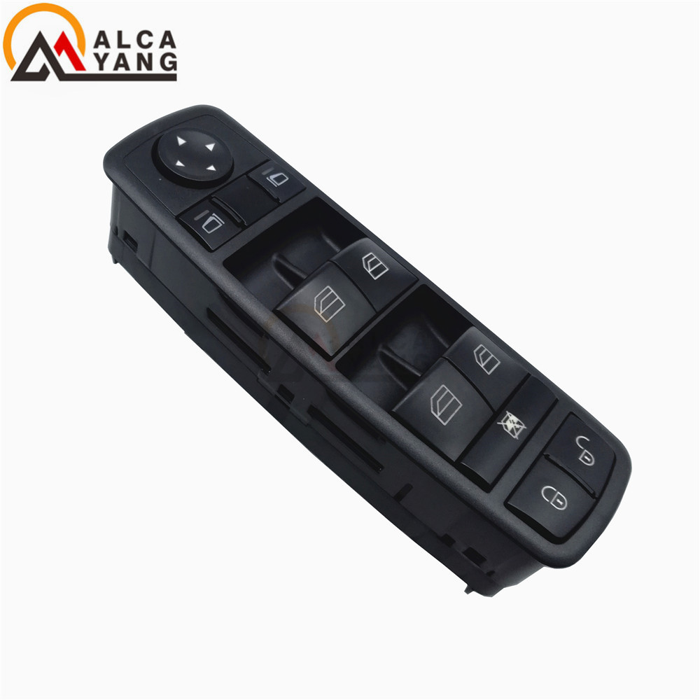 Malcayang Electric Power Window Master Switch For Mercedes Benz B-Class W245 A-Class W169 2005 2006 2007 2008 2009 A1698206610 power window lifter switch for mazda6 hatchback gh estate 2007 2008 for electric mirror adjustment switch gs1e 66 350 a