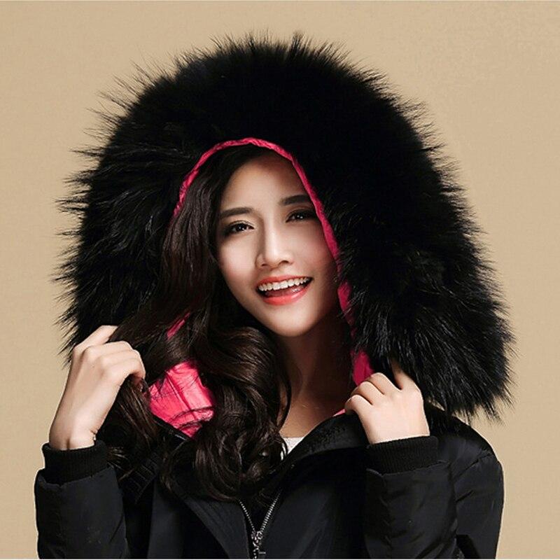 Svadilfari New 2018 Natural Real Raccoon Fur Collar Winter Women Warm Coat Collar Fashion Genuine Raccoon Solid Collar Scarves