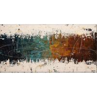 Современное искусство картина маслом абстрактный цвета синий коричневый на белый большой холст для гостиной Декор ручная роспись высокого