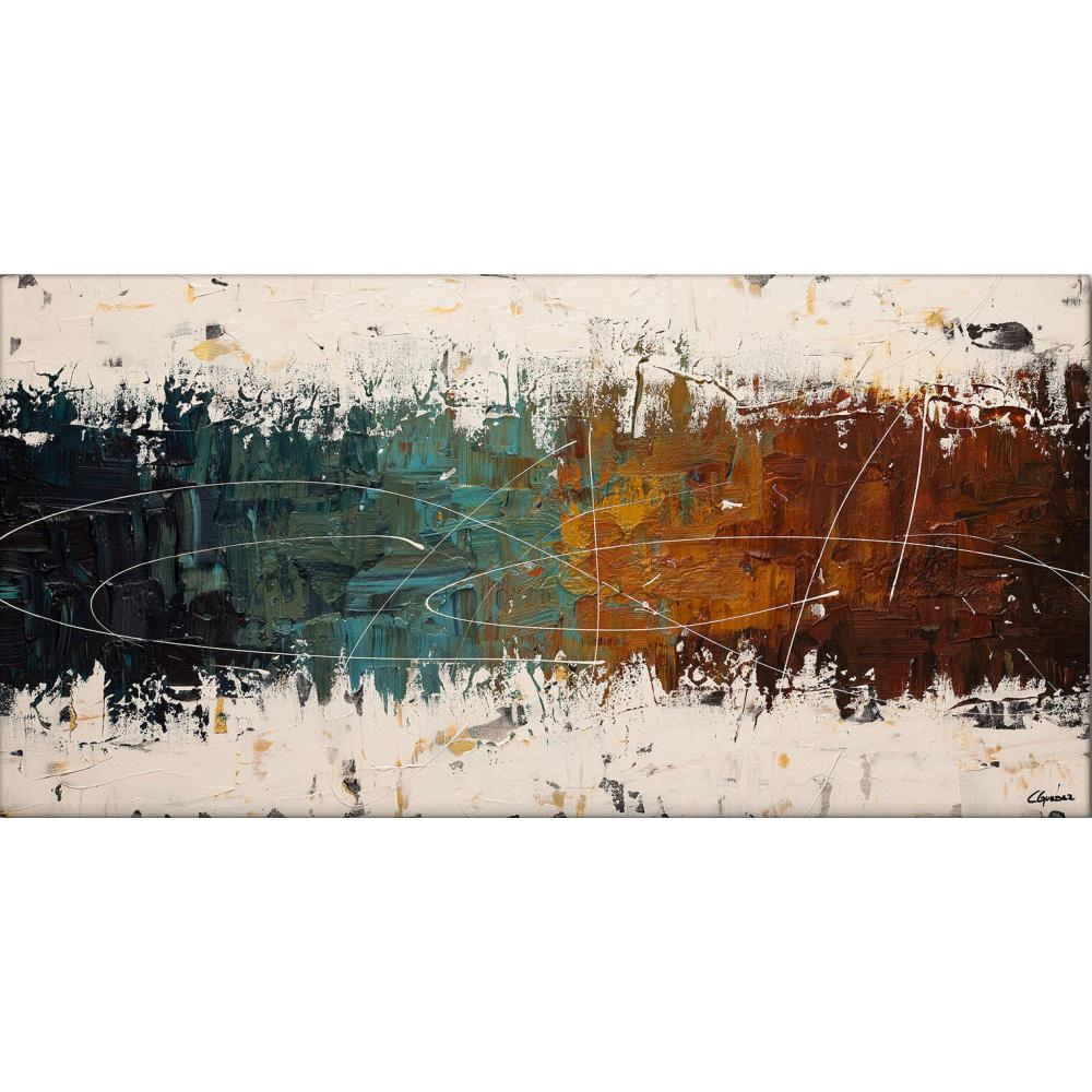 contemporary art oil painting Abstract colors Blue Brown on white large canvas for living room decor hand painted high quality