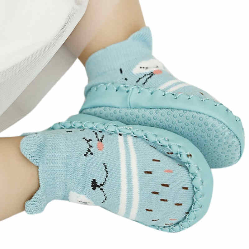 Cartoon Baby Shoes Floor Socks Anti Slip Toddler Cotton Indoor Walk Learning New