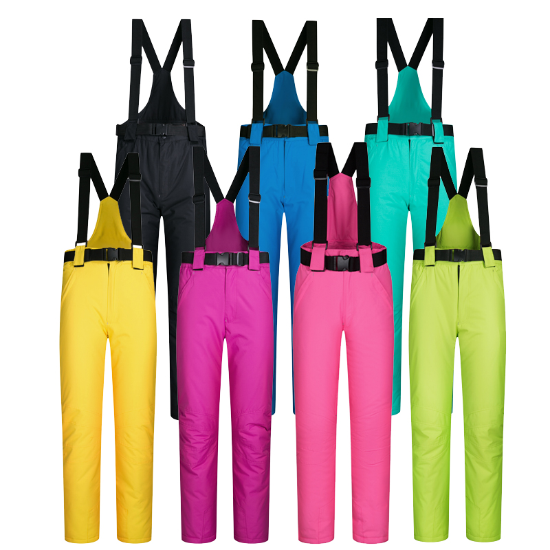 Ski Pants Outdoor Sports High Quality Women And Men Ski Pants Windproof Waterproof Warm Colorful Winter Snow Snowboard Trousers outdoor sports mirror windproof dust for women and men