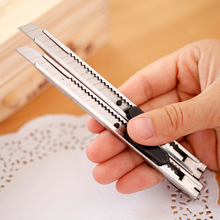 Knife Paper-Cutter Stainless-Steel Retractable Stationery Blade School-Supplies Office