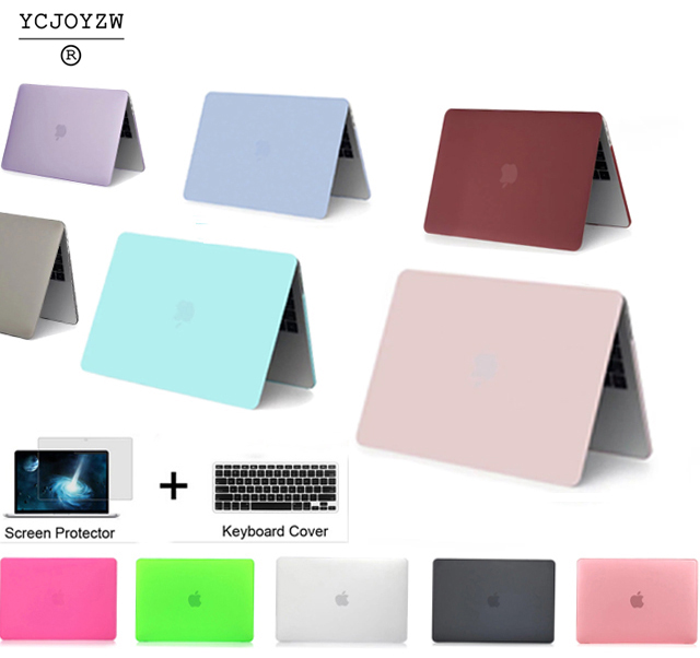 YCJOYZW-Laptop Case For Apple Macbook Air Pro Retina 11 12 13 15 For Mac Book New Pro 13 15 Inch With Touch Bar+ Keyboard Cover