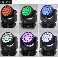 6pcspc/19x12w Zoom moving head light rgbw 4in1 dmx Zoom Dyeing moving head