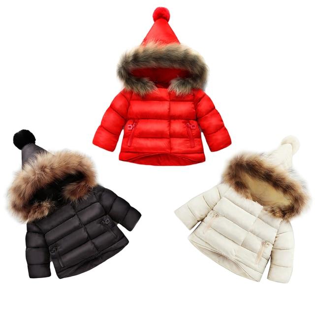 177ebfd21 Kids Toddler Winter Coats Children Boys Girls Cotton Padded Jacket ...