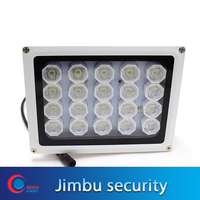 20 LED 12V Night Vision IR sensor white Light lamp LED Auxiliary Lighting For Security CCTV Camera