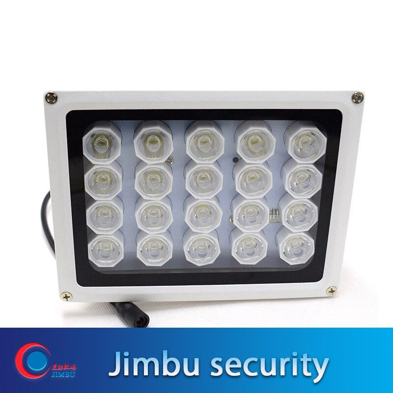 20 LED 12V Vision nocturne IR capteur lampe de lumière blanche LED éclairage auxiliaire pour caméra de vidéosurveillance de sécurité