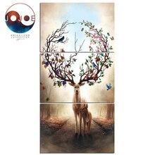 Deer tree canvas art