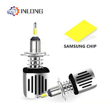 Inlong Car H7 H4 LED Headlight Bulbs 9005 9006 H11 H8 D2S D1S D3S H1 Led Lamp SAMSUNG CSP 60W 11200LM Headlamp Fog Lights 6500K(China)