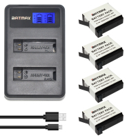 4Pack AHDBT 401 AHDBT 401 402 Battery USB LCD USB Charger For GoPro Go Pro GoPro4