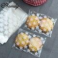 Aomily 100 teile/satz Hochzeit Süßigkeiten Geschenk Kunststoff Cookie Taschen Weiß Star Transparent Weihnachten Kekse Backen Verpackungsbeutel|bag white|bag bagbag pack -