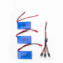 1to3 split cable 7.4V 1100mah Wltoys A949 A959 A969 A979 K929 LiPo Battery JST plug Part for Wltoys RC Part Wholesale