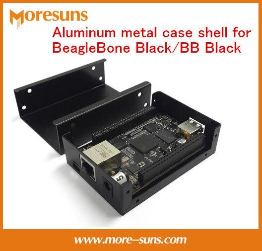Быстрый Свободный Корабль 5 шт./лот BB Черный алюминиевого сплава корпус 90 мм * 64 мм * 26 мм Алюминий металл чехол для BeagleBone Черный