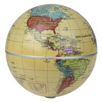 5.5 pouce Solaire Alimenté Auto Filature Monde Globes Auto Rotation Globe Modèle Enfants Éducation Solaire Jouet