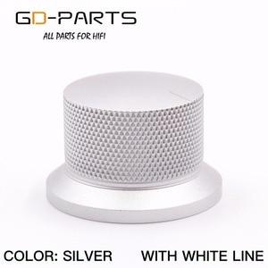 Image 5 - GD PARTS 38x25mm Machined Aluminum Knob Volume Sound Control Knob For Hifi Audio AMP Turntable Recorder Radio Silver Black 1PC