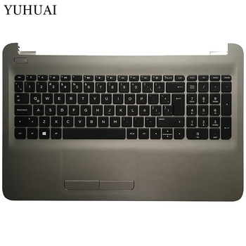 Латинская Клавиатура для ноутбука hp 250 G5 255 G5 256 G5 15-BA 15-AY TPN-C125 TPN-C126 HQ-TRE с подставка под тачпад верхняя крышка