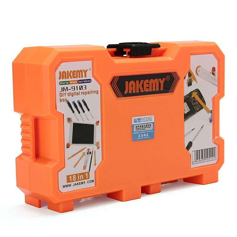 JAKEMY JM-9103 18 In 1 Mobile Phones Repair Tools Kit DIY Digital Maintenance Box Screwdriver Set Opening Tool jakemy jm 6092b 58 in 1 screwdriver set
