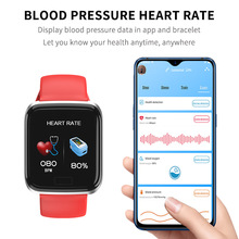 Smart Bracelet Blood Pressure Watch Heart Rate Sleep Call Message Reminder Fitness Activity Tracker Smart Band Health Wristband colmi dm68 smart wristband blood pressure heart rate monitor bluetooth fitness bracelet call reminder activity tracker