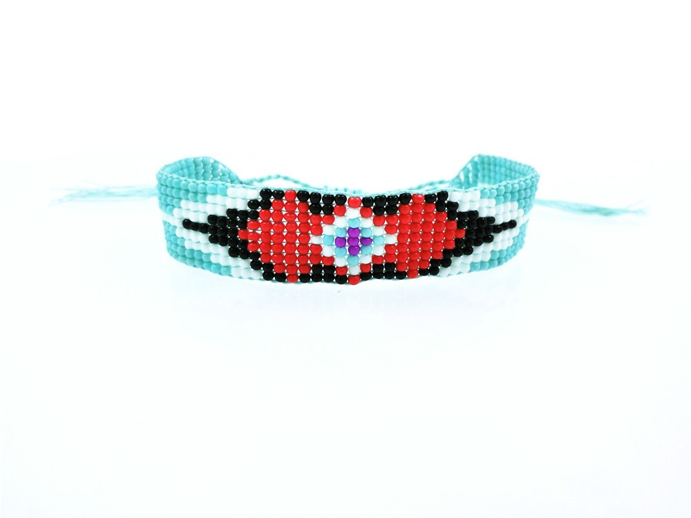 AMIU Handmade Seed Beads Friendship Bracelet Beaded Custom Mix-Colour Eye Friendship Bracelets For Women Men 18 Dropshipping 26