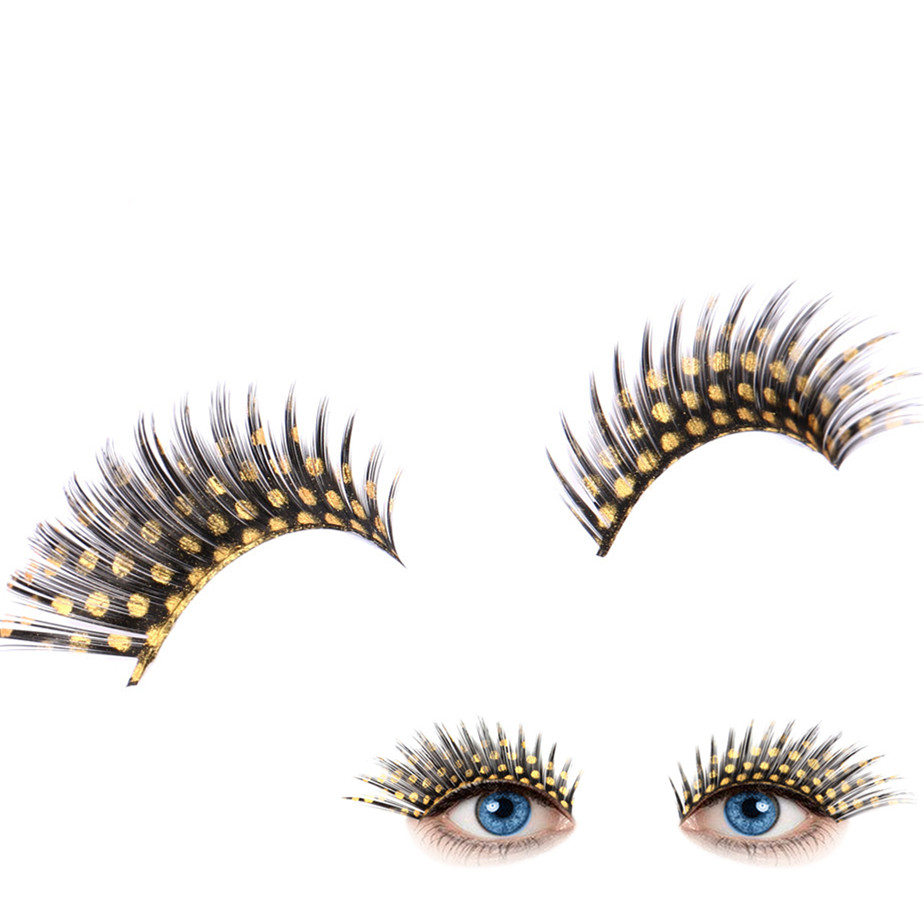 2017 Women 3D Mink Eyelashes Crossing Halloween Stage Party Makeup Small Dots False Eyelashes Extention Tools Pestanas falsas