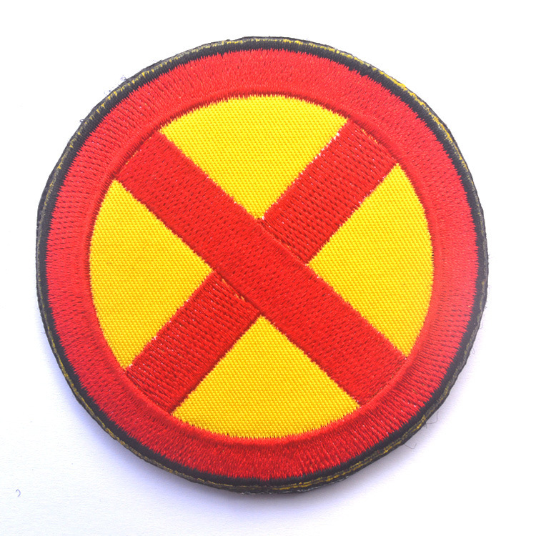GUGUTREE embroidery HOOK LOOP x patch x flag patches badges applique patches for clothing AD 295 in Patches from Home Garden