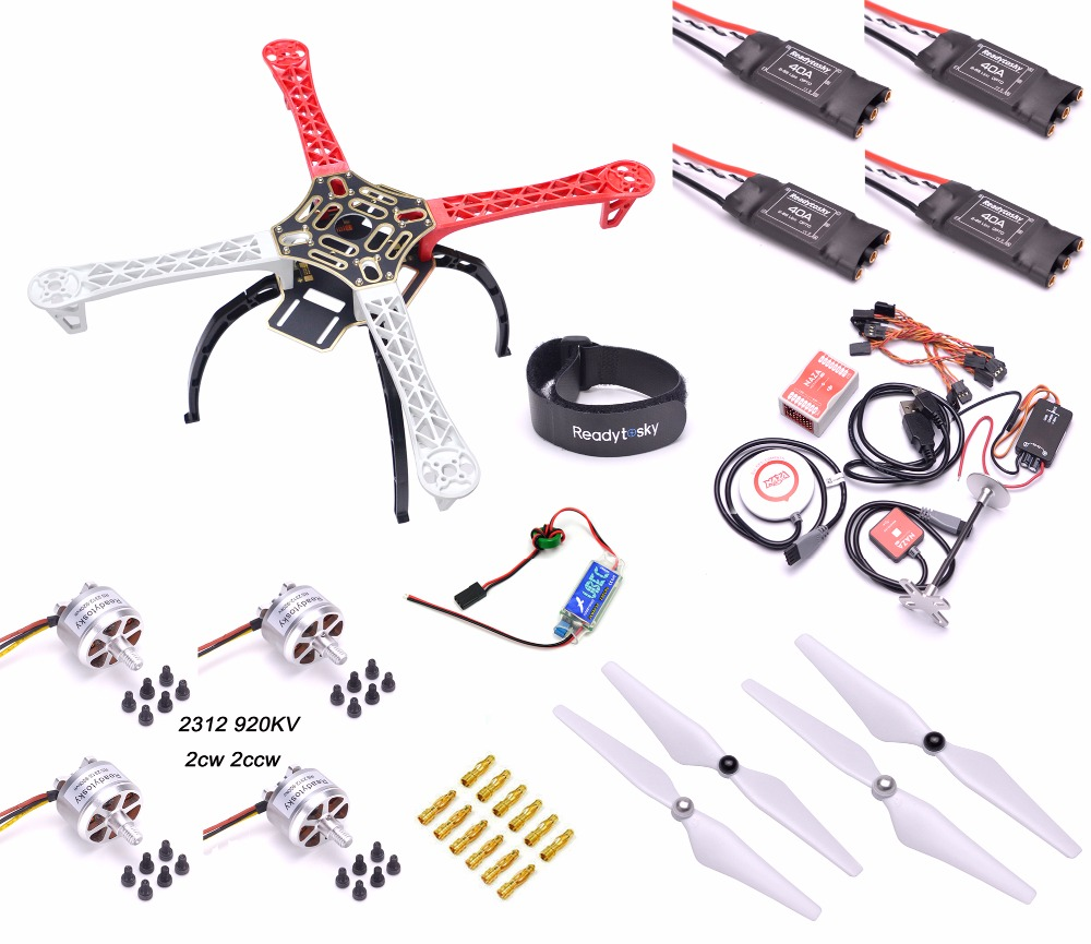 F450 Multi-Copter Quadcopter Rack Kit Naza M Lite Multi Flyer Version 2312 920KV Motor ReadytoSky 40A OPTO ESC Super combo naza m lite multi flyer version flight control controller w pmu power module