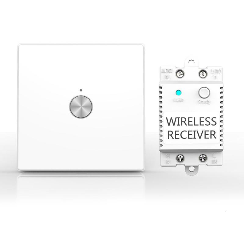 Wireless Lights Switch Kit 1CH 1 Way Remote Control Switch Luxury Crystal Glass Touch Panel Push Button Wall Light Switch smart home uk standard crystal glass panel wireless remote control 1 gang 1 way wall touch switch screen light switch ac 220v
