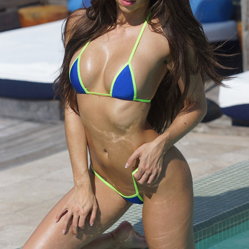 Ebony pool party porn