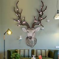 Олень украшение для стен домашнее украшение, подвесные стены головой животного кулон из смолы настенные украшения, аксессуары для дома