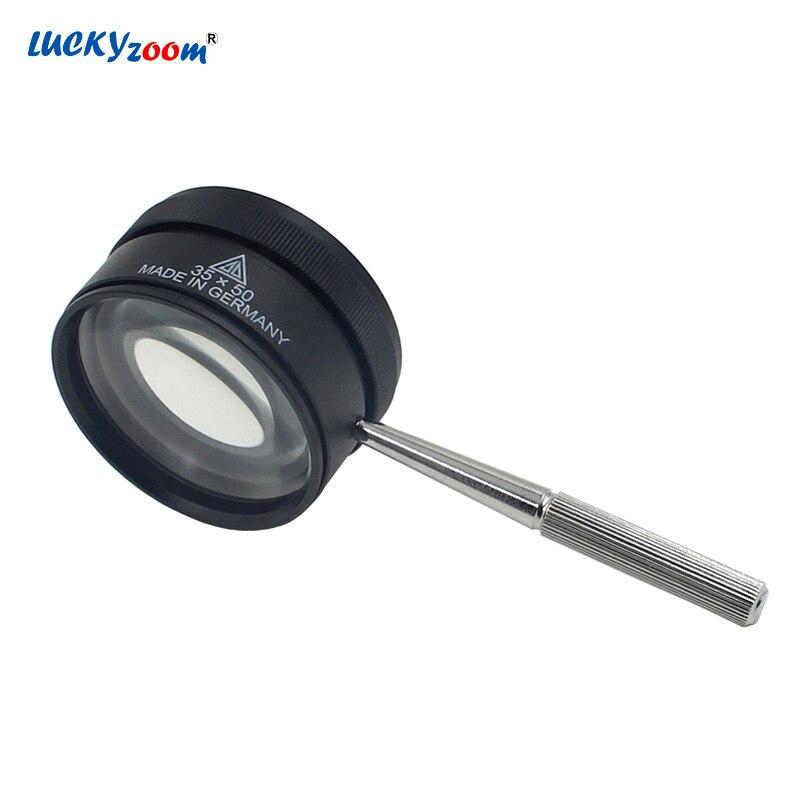 Luckyzoom Handheld Lupe Vergrößerungs Brille Lupe Gläser Mit Optische Linse 35X30*35 Lupe Schmuck Lupe Lesen Reparatur