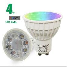 New Arrival Original Dimmable 2.4G Wireless Milight Led Bulb GU10 RGB+CCT Led Spotlight Smart Led Lamp Lighting AC86-265V