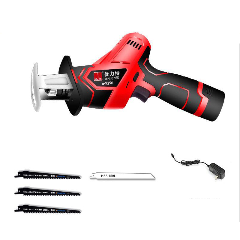 12V lithium reciprocating saws saber saw portable cordless electric power tools jig saw with LED light and Saw blade