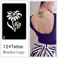 Disposable tattoo stencil, detachable, artistic creation, fashionable, skin available, tattoos, Flowers, plants, sunflowers, 072
