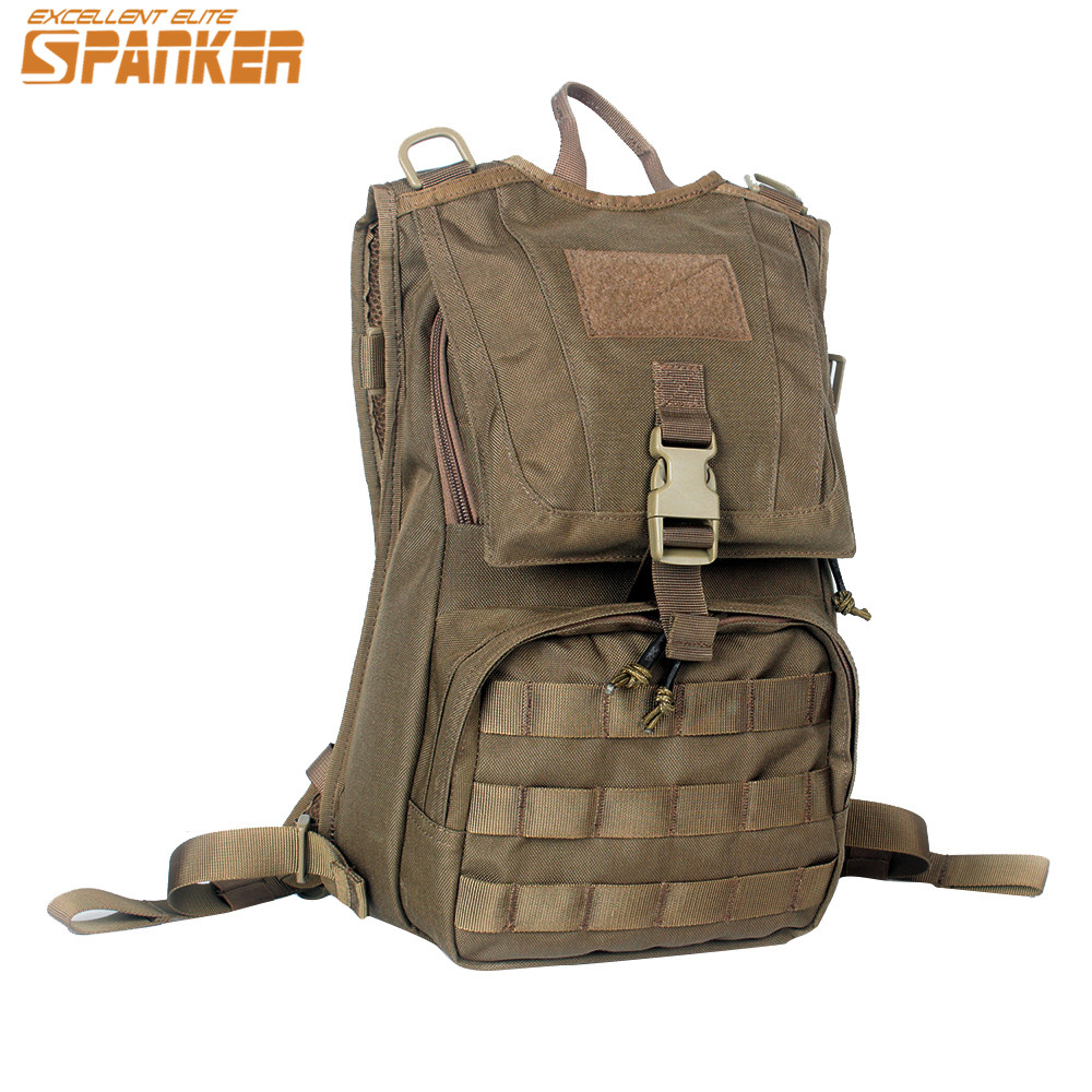 SPANKER Tactical Hydration Backpack Outdoor Cycling Water Bladder Military Hunting Bag Molle Vest Equipment Accessory Sport Bags emersongear lbt2649b hydration carrier for 1961ar molle backpack military tactical bags hunting bag multicam tropic arid black