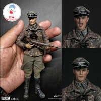 DAM DAMTOYS PES003 1/12 WWII niemiecka dywizja pancerna Mager żołnierz figurka z 2 głowami kolekcjonerska figurka lalki