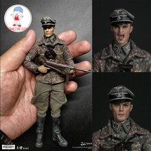 دام DAMTOYS PES003 1/12 الحرب العالمية الثانية المدرعة الألمانية قسم ماجر الجندي تمثال مع 2 رؤساء تحصيل دمى عمل الشكل