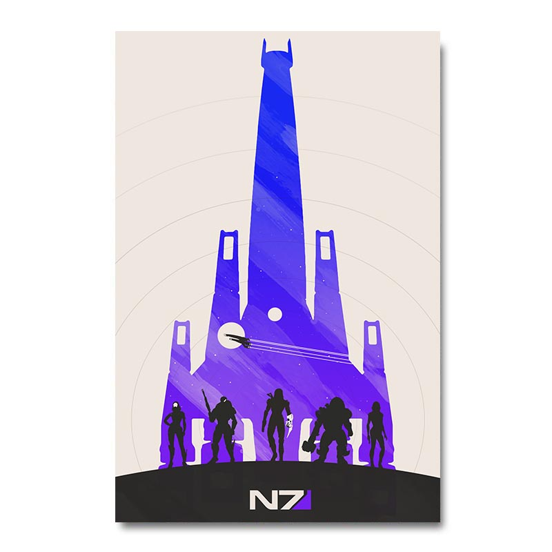 Mass Effect 2 3 4 Game Silk Poster Wall Art Print 12x18 24x36 inch Decorative Pictures Wallpaper Living Room Decoration 010 image