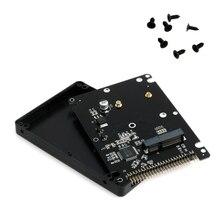 """44pin msata para 2.5 """"ide hdd ssd msata para pata adaptador conversor cartão com caso 10*7*0.9cm"""