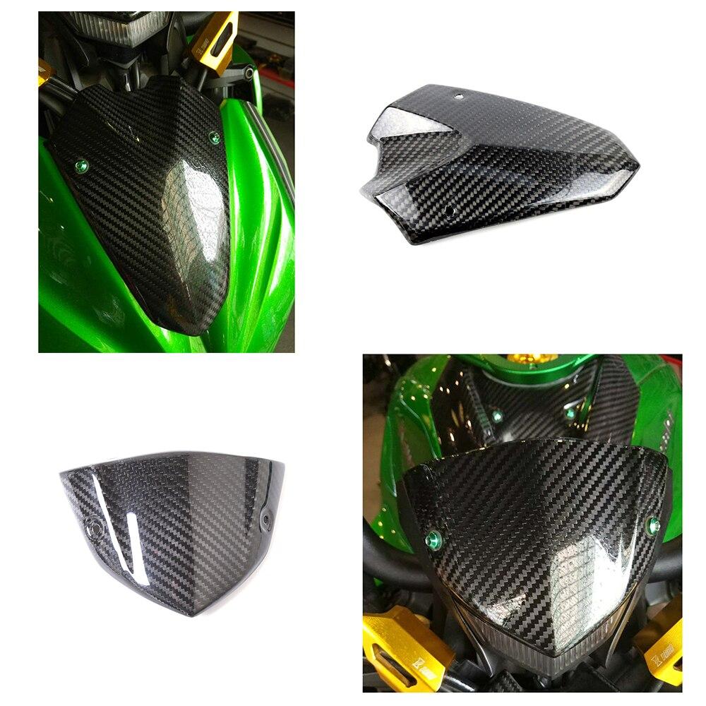 Здесь продается  Motorcycle Carbon Fiber Headlight Fairing Instrument Windshield Windscreen Wind Deflector Cover For Kawasaki Z1000 2014-2016  Автомобили и Мотоциклы