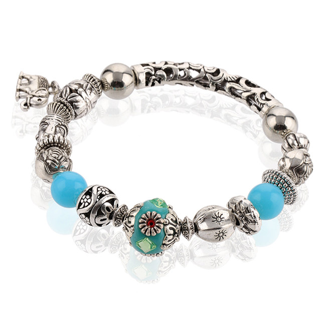 Drop Shipping Fish Charm Chamilia Bracelet 925 Tibetan Silver Women Fashion European Style Jewelry