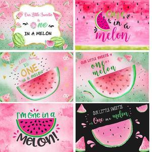 HUAYI, Fondo de fiesta de cumpleaños de sandía, 1 en un melón, primer fondo con foto para cumpleaños, decoraciones para telón de fondo de fiesta de verano de melón