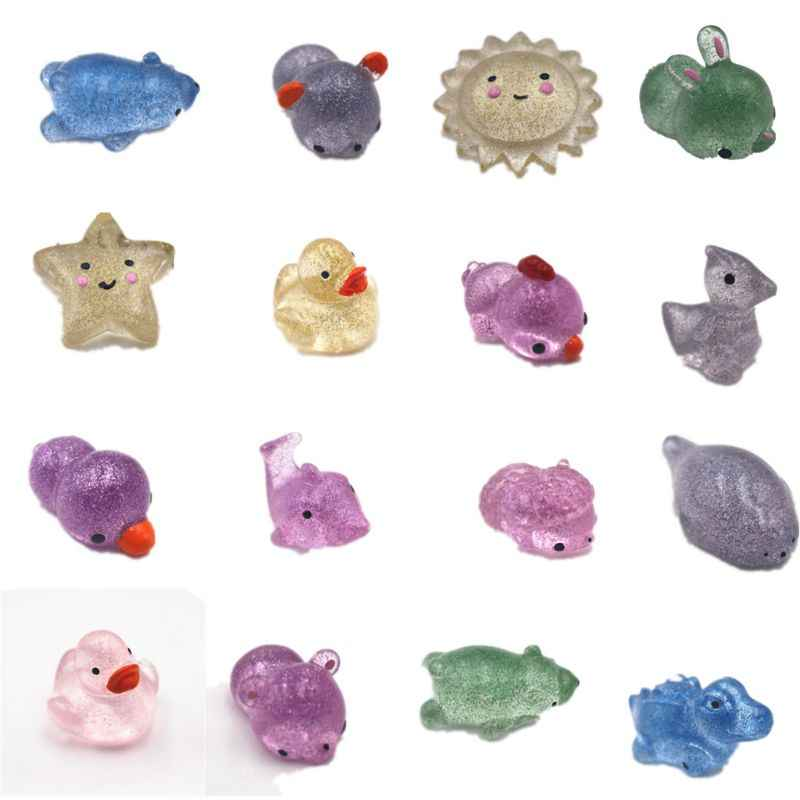 1PC Cartoon Glitter Mochi Squishy Antistress Boot Ball Decompression Sticky Stress Reliever Toys Squeeze Toys Random Color/Style