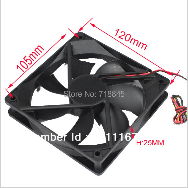 Wholesale price 50pcs New <font><b>PC</b></font> Case 12V 4Pin 12CM <font><b>120</b></font> <font><b>MM</b></font> 12025 Ball Cooller Cooling <font><b>Fan</b></font> image