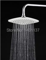 8' Square Polished Chrome Ceiling Overhead Top Rain Bath Shower Head faucet accessories