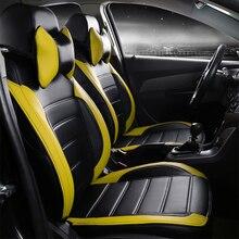 Personalizar fundas de asiento de coche de cuero especial para AUDI A4L A6L Q3/5/7 A7 A3 BMW 320i 316i 328li Mini One benz GLK300/260 C200LC/180L
