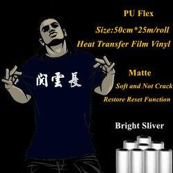 PU Flex Wärme Transfer Vinyl Für Kleidung Helle Splitter Farbe Matte Wärme Presse Transfer Film Vinyl Plotter 50cm * 25m/roll Warme Schälen